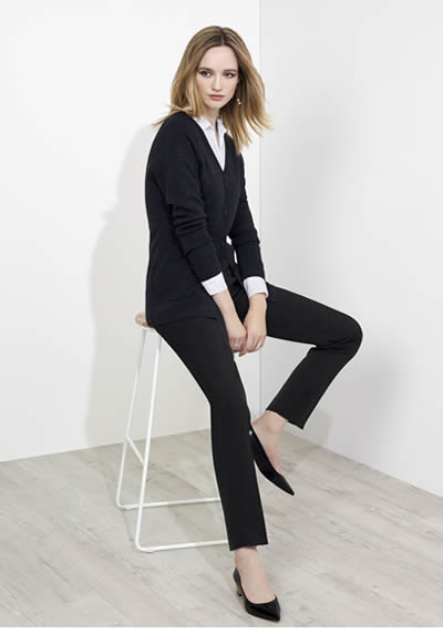 10121 Ladies Bandless Slim Leg Pant