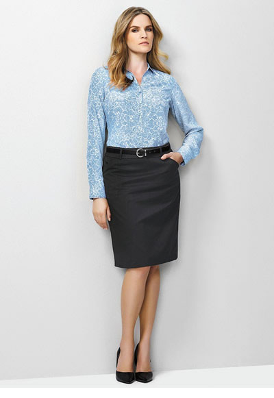 20115 Ladies Multi Pleat Plain Skirt