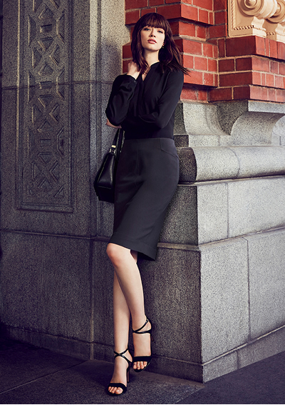 20717 Womens Bandless Pencil Skirt