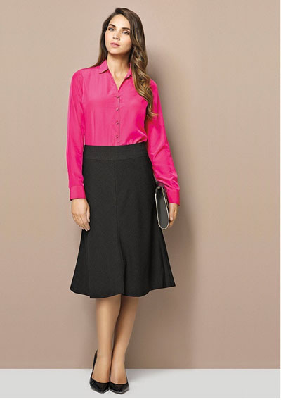 24013 Ladies 3/4 Length Fluted Lined Skirt