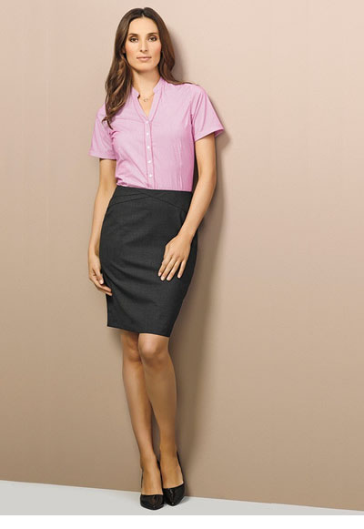 24014 Ladies Chevron Band Skirt