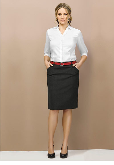 24015 Ladies Multi Pleat Stretch Skirt