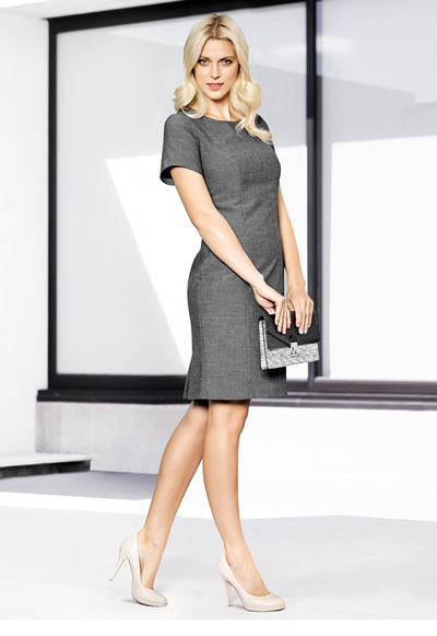 30312 Ladies Short Sleeve Shift Dress