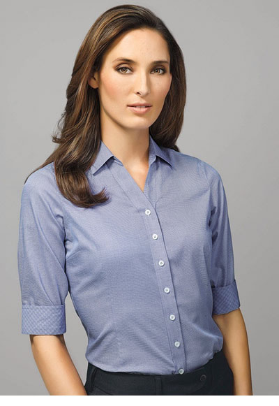 40311 Hudson Ladies 3/4 Sleeve Shirt