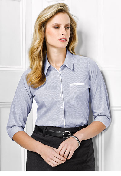 41721 Calais Ladies 3/4 Sleeve Shirt