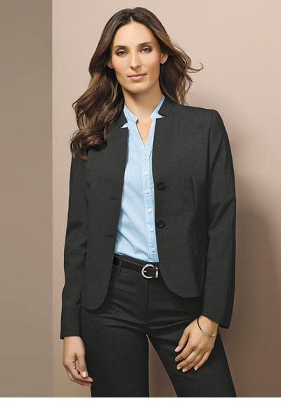 64013 Ladies Short Jacket w/ Reverse Lapel