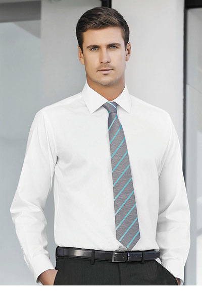 99102 Men's Single Contrast Stripe Tie