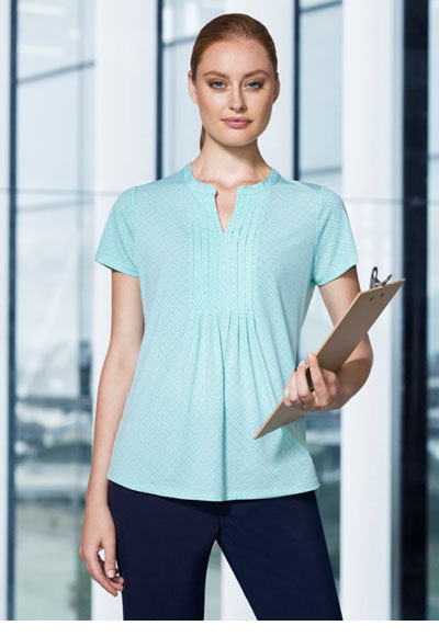 AC42812 Advatex Ladies Ella Diamond Pleat Knit Top